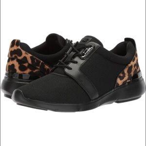 Michael Kors Black/leopard sneakers size 8